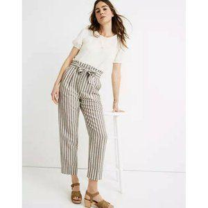 Madewell Stripe Linen Blend Paperbag High Waist Pants